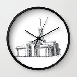 Mount Timpanogos LDS Temple Wall Clock