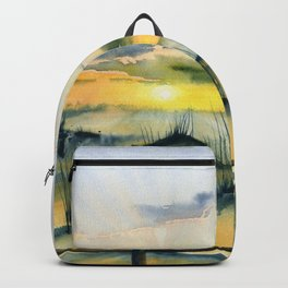 Sunset Over The Dunes Backpack