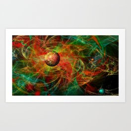 Color centrifugal Art Print