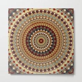 Earthy Mandala Metal Print