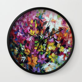Dance of flowers Wall Clock
