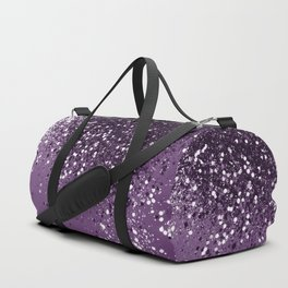 PURPLE Glitter Dream #1 #shiny #decor #art #society6 Duffle Bag