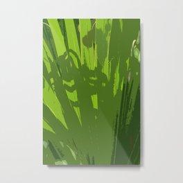 Five Shades  Of Green Metal Print