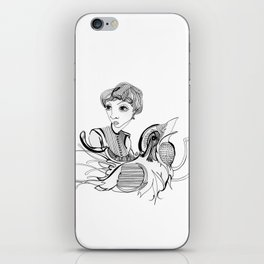 Woman On Bird iPhone Skin