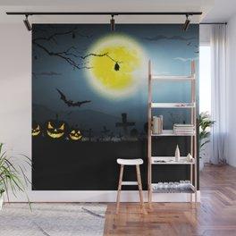 Scary Nightmare Pumpkin Wall Mural