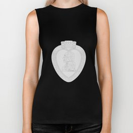 Purple Heart Medal Outline Biker Tank