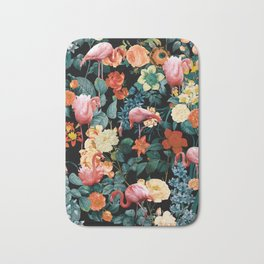 Floral and Flemingo II Pattern Bath Mat