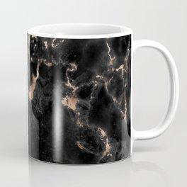 Rose Gold and Black Marble Coffee Mug