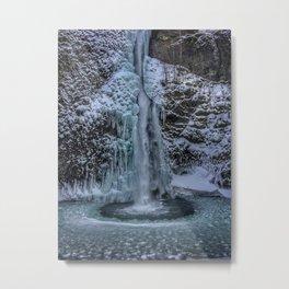 Winter at Lower Horsetail Falls Metal Print