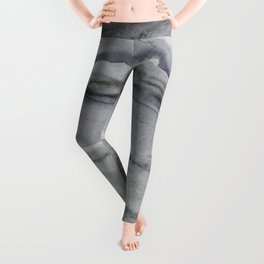 Watercolor Agate in Gray Leggings
