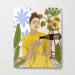 Self Care #illustration #painting Metal Print