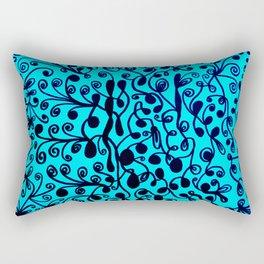 Bindweed in sky blue Rectangular Pillow