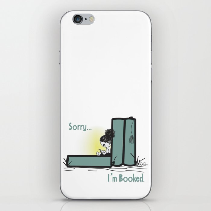 Sorry, I'm Booked, bookworm girl iPhone Skin
