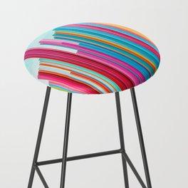 Colorful Rainbow Pipes Bar Stool