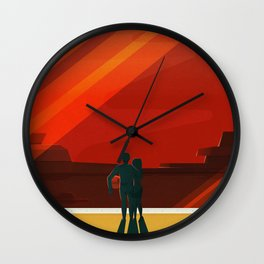 THE MOONS OF MARS - Phobos & Deimos | Space | X | Retro | Vintage | Futurism | Sci-Fi | Two Wall Clock