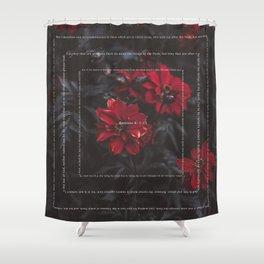 Romans 8:1-13 Shower Curtain