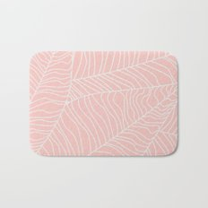 TROPICAL LEAVES - pink palette Bath Mat