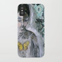 book cover iPhone & iPod Cases featuring Vintage Book Cover Girl by Jeanne Oliver