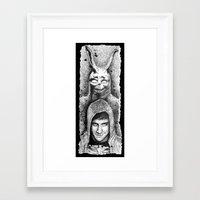 donnie darko Framed Art Prints featuring Donnie Darko Scribble Portrait by Gabriel Saint