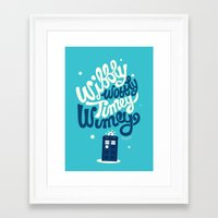 risa rodil Framed Art Prints featuring Wibbly Wobbly Timey Wimey by Risa Rodil