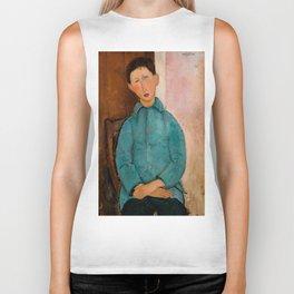 "Amedeo Modigliani ""Boy in a Blue Vest"" 1918 Biker Tank"