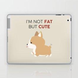 Not fat but cute corgi Laptop & iPad Skin