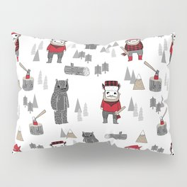 Forest lumberjack and bear nursery kids cute woodland camper gifts Pillow Sham