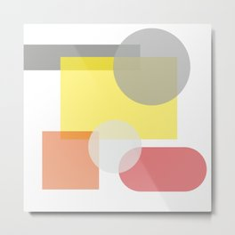 Tech geometric colorful Background #society6 #decor #buyart #artprint Metal Print