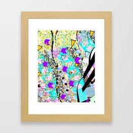 Mixed media textile pattern. Framed Art Print