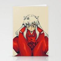 inuyasha Stationery Cards featuring Inuyasha by KanaHyde