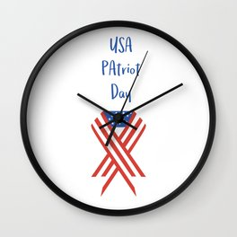 USA Patriot Day - September 11 - Day to pray and hope Wall Clock