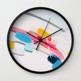 Even After All  #3 - Abstract on perspex by Jen Sievers Wall Clock