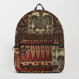 Hawaiian Petroglyph Tapa Cloth Backpack