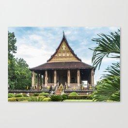 Ho Phra Keo, Vientiane, Laos Canvas Print