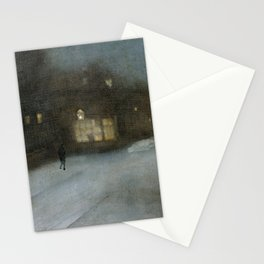 Nocturne in Grey and Gold - Chelsea Snow by James McNeill Whistler Stationery Cards