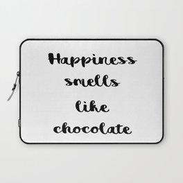 Happiness smells like chocolate Laptop Sleeve