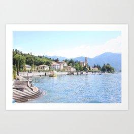 Lake Como, Italy #society6 #decor #buyart Art Print