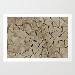 broken glass texture Art Print