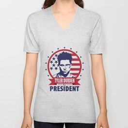 Tyler Durden For President Unisex V-Neck
