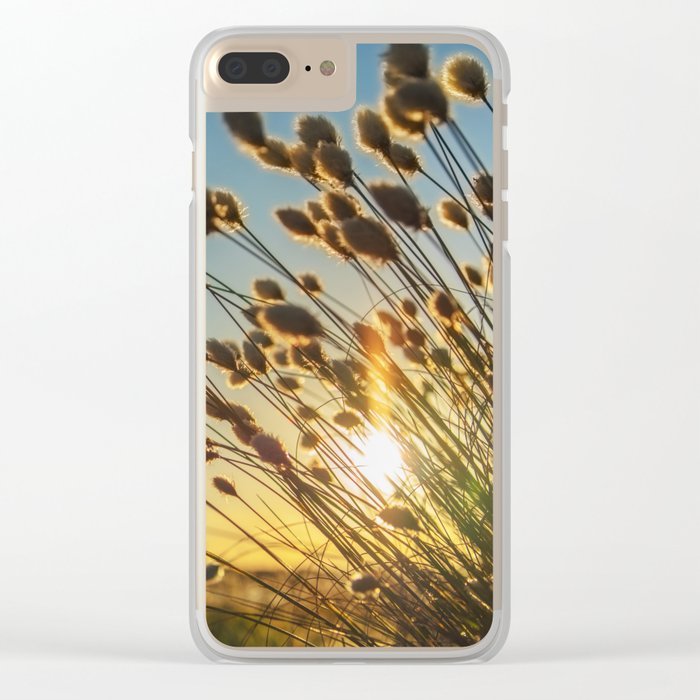 Cotton grass from the high moorland Clear iPhone Case