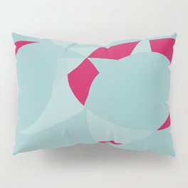 Dusty Pale Blue and Vibrant Magenta Abstract Graphic Pillow Sham