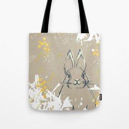 Bunny Portrait M+M Latte by Friztin Tote Bag