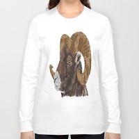 ram Long Sleeve T-shirts featuring Ram by FractalFox