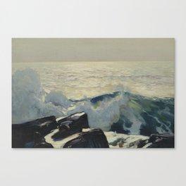 Frederick Judd Waugh 1861 - 1940 ROCKY COAST AND SEA Canvas Print