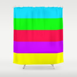 Neon Mix #2 Shower Curtain