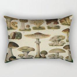 Edible Mushrooms Chart Rectangular Pillow
