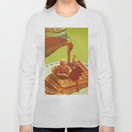 Pour some syrup on me - Breakfast Waffles Long Sleeve T-shirt