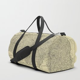 Map of the Great Smoky Mountains National Park (1935) Duffle Bag