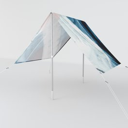 Forward: a pretty minimal abstract piece in pink blue and white by Alyssa Hamilton Art Sun Shade