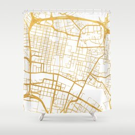 GLASGOW SCOTLAND CITY STREET MAP ART Shower Curtain